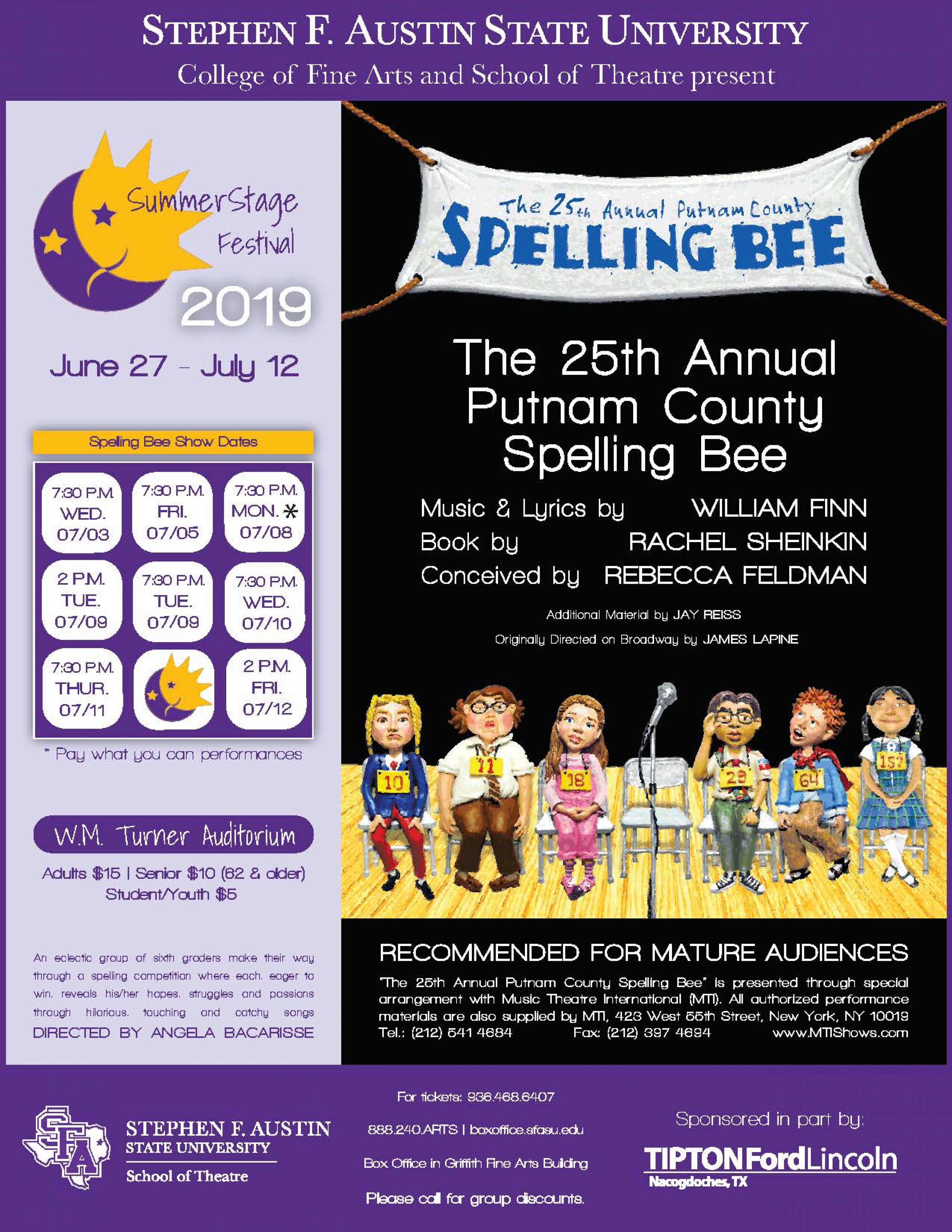 The 25th Annual Putnam County Spelling Bee banner image